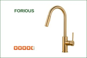 Forious Gold Pull Down Kitchen Faucet