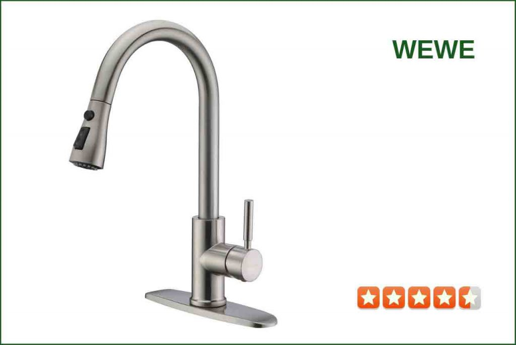 WEWE 3T01L Pull-down Sprayer Kitchen Faucet