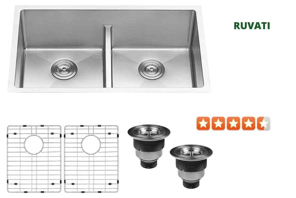 Ruvati RVH7355 Double Bowl Kitchen Sink