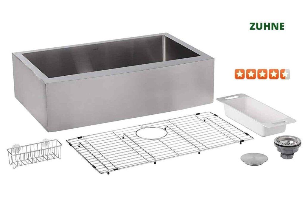 ZUHNE CM-UREM-81S5 Farmhouse Kitchen Sink